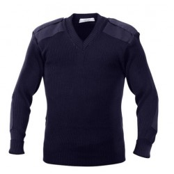 SWEATER SECURITY  PULL OVER V NECK WOOLEN NAVY BLUE CASH MELON WOOL HEAVY GSM 425 GMS WEIGHT PER PIECE