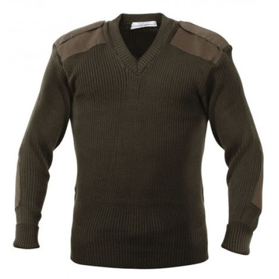 SWEATER SECURITY  PULL OVER V NECK WOOLEN KHAKI CASH MELON WOOL HEAVY GSM 425 GMS WEIGHT PER PIECE