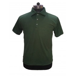 TShirt Bottle Green Plain Foam Collar Fabric Nirmal Knit Dry Fit