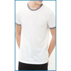 Men's T Shirts Round Neck Contrast Trimming (Minimum 6 Nos)