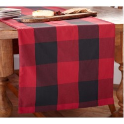 """10 PIECES TABLE RUNNER SIZE 13"""" X 58"""" BLENDED BUFFALO CHECK SUITING RED & BLACK . PRICE RS 495 INCLUDES GST & DOOR DELIVERY ANYWHERE IN INDIA."""