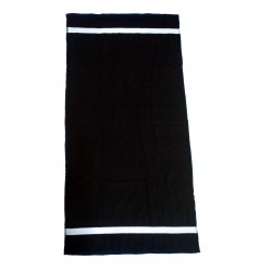 "BLACK BATH TOWEL FOR SPA & SALON FULL SIZE 30"" X 60"" WEIGHT 400 GMS PER PIECE"