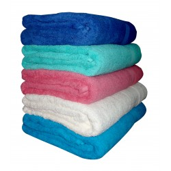 "BATH TOWEL MINIMUM BUY 25 NOS  LUXURIOUS TOWEL FULL SIZE 30' X 60""  SOFT ABSORBENT. PACK OF 25 BATH TOWELS. EACH TOWEL WEIGHT 625 GMS."