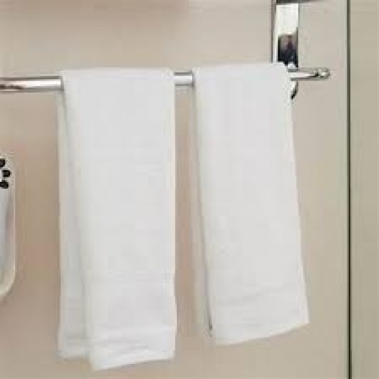 "HAND TOWEL WHITE TRACK BORDER SIZE 14"" X 21"" RS 24"