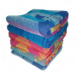 "6 PIECES BEACH BATH TOWEL FULL LENGTH SIZE 30"" X 60"" PRICE RS 700 INCLUDES GST & DOOR DELIVERY ANY WHERE IN INDIA. BUY ONE GET SIX PIECES OF TOWEL"