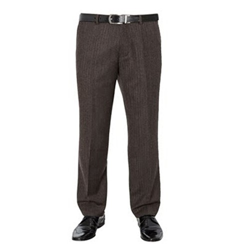 fd8097044 Formal Dark Brown Grey Pleated Trouser for men's - Plus Size Pants ...