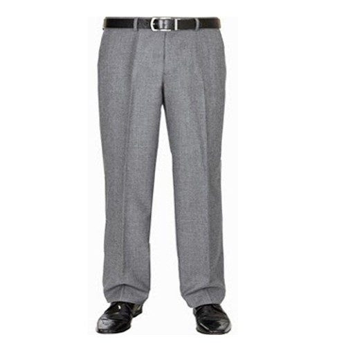 7f8dce1714473 Formal Grey Pleated Trouser for men s - Plus Size Pants Big Size ...