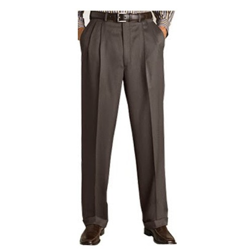 348aa0e46e0a6 Formal Brown Pleated Trouser for men s - Plus Size Pants Big Size ...