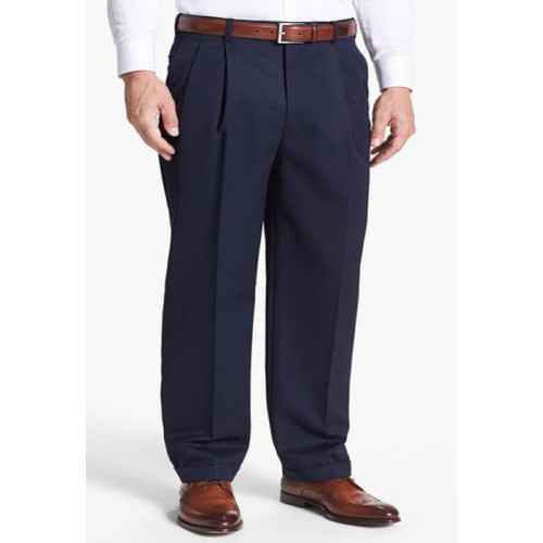 95358cf4c3b Formal Navy Blue Pleated Trouser for men - Plus Size Pants Big Size ...