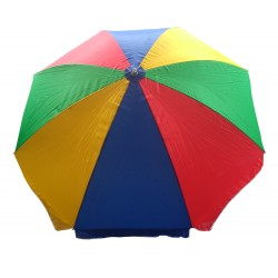 GARDEN UMBRELLA MULTI COLOR 8 FEET DIA HEAVY DUTY WITH THICK WATER PROOF FABRIC
