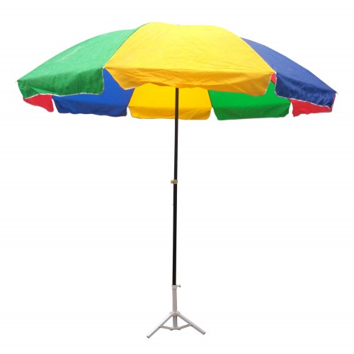 GARDEN UMBRELLA MULTI COLOR 10 FEET DIA HEAVY DUTY WITH THICK WATER PROOF  FABRIC