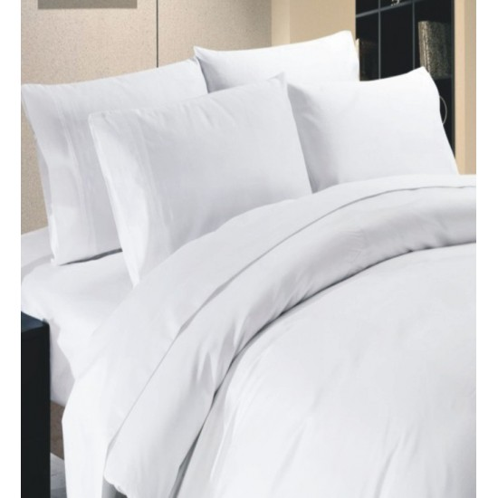 BED SHEET WHITE 20s COUNT SINGLE BED SIZE 72 X 108