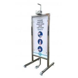 STAINLESS STEEL HAND SANITIZER STAND