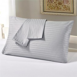 PILLOW COVER STRIPE 40S COUNT SIZE 20 X 30 SATIN STRIPE COTTON 240 THREAD COUNT