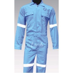 DUNGREES MAINTENANCE ENGINEERS WORK WEAR LT. BLUE WITH WHITE TRIMMING INDUSTRIAL UNIFORM