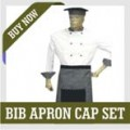 BIB APRON CAP SET