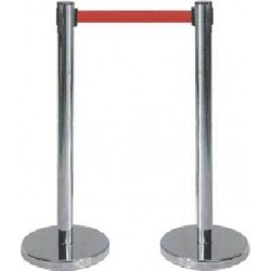 Q MANGER 2 PIECES QUEUE MANAGER Q-Manager  SET OF TWO PIECES,STAINLESS STEEL-RETRACTABLE BELT STANCHIONS