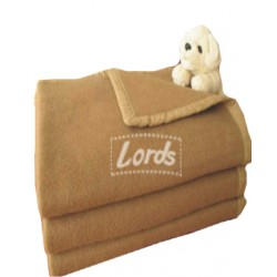 "CAMEL BLANKET WOOLEN SINGLE BED . SIZE 60"" X 90"" FOUR SIDE POLYESTER BORDER"