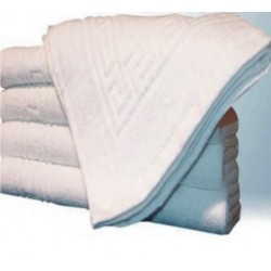 "BATH MATT BUY 50 PIECES MINIMUM. WHITE SIZE  20"" X 30"" WEIGHT 300 GMS PER PC."