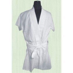 BATH ROBE WHITE TOWELLING UNISEX . BEST QUALITY. LOWEST PRICE IN INDIA