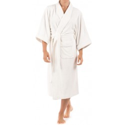 BATH ROBE WHITE TOWELING. FULL SIZE