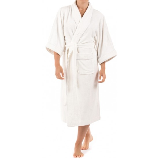BATH ROBE WHITE TOWELING. FULL SIZE