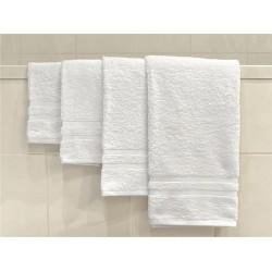 "BATH TOWEL PREMIUM COTTON WHITE | FULL SIZE 30"" X 60"" WEIGHT 500"
