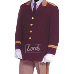 BELL BOY UNIFORMS, TRADITIONAL JACKET MADE FROM MILL MADE YARN DYED SUITING.