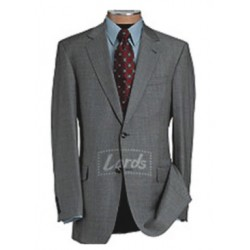 Blazer Worsted Grey Twill Weave | Two Button Single Breasted Blaze