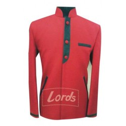 Coat Indo Western Red With Black Trimming. Only Coat Rs 999 Including GST & Door Delivery Anywhere in India