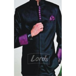 Jodhpuri Coat Velvet Black With Trimming Price Rs 999 Including GST & Door Delivery Anywhere in India.