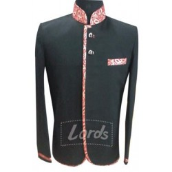 Jodhpuri Coat Black With  Jaccord Trimming Price Rs 999 Including GST & Door Delivery Anywhere in India.