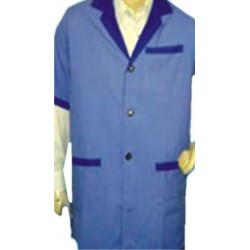 COAT CONTRAST TRIMMING DOCTOR-SCIENTIST-PHARMACIST BEAUTICIAN COAT