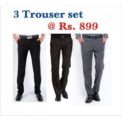 TROUSER PANT  FORMAL FASHION FIT. BEST CUT-FIT -STITCH. THREE TROUSER SET BUY ONE GET THREE