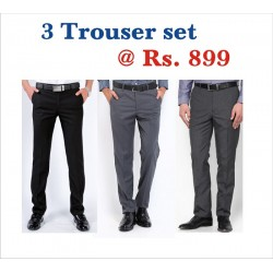 TROUSER PANT FORMAL FASHION FIT. BEST CUT-FIT -STITCH. THREE TROUSER SET