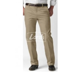 TROUSER PANT MEN'S FORMAL NON PLEATED FORMAL BEIGE