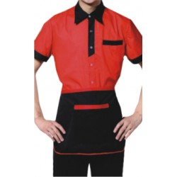 SERVICE UNIFORMS T SHIRT WITH APRON AND CAP