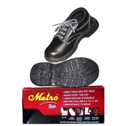 SHOES SAFETY FOOTWEAR- GENUINE QUALITY METRO BRAND-STEEL TOE- BULK PURCHASE HEAVY DISCOUNT