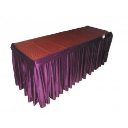 """FRILL TABLE SKIRTING SIZE 13' X 30"""" HEAVY LYCRA FRILLS READY TO FIX ON BANQUET TABLE"""