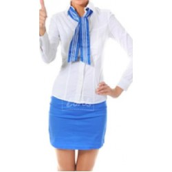 SUIT WOMEN'S SHIRT, SKIRT & NECK STOLE
