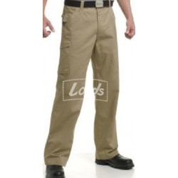 TROUSER  PREMIUM NON PLEATED CARGO KHAKI TROUSER